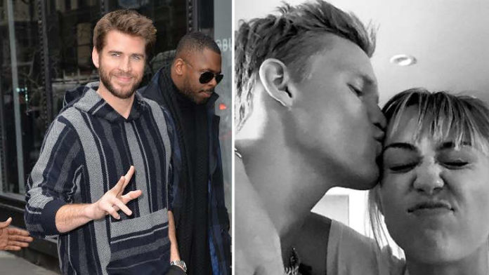 Liam Hemsworth wears his wedding ring while Miley Cyrus makes headlines with Cody Simpson