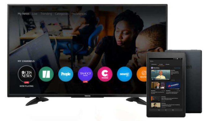 Amazon launches ad-supported News app on Fire TV and Fire Tablets