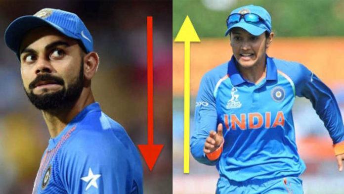 Smriti Mandhana faster than Virat Kohli to 2000 ODI runs