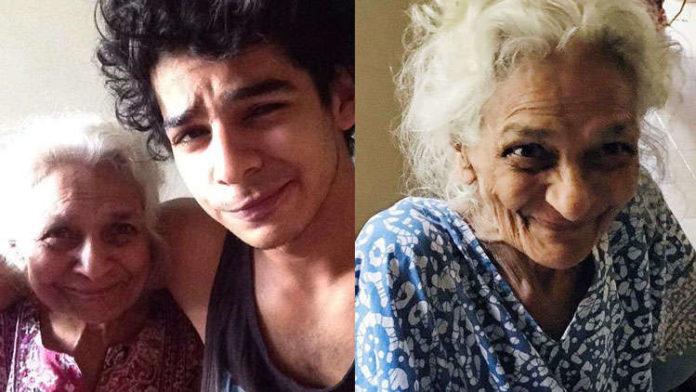 Actor Ishaan Khattar pens down a heartfelt note for Grandmother Khadija Azeem