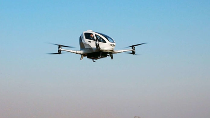 Air taxi startup EHang flies autonomously in US for first time