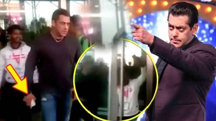 Angry Salman Khan grabs a fan's phone and leaves the airport
