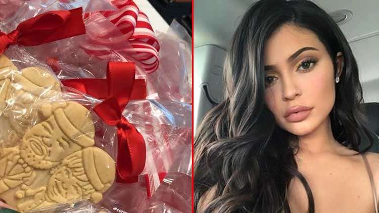 Kylie Jenner Sends Kim & Kourtney Xmas Cookies Shaped Like Them & Their Children!