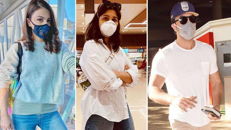 Coronavirus Scarce Bollywood Celebs; Dons Masks At Public Places