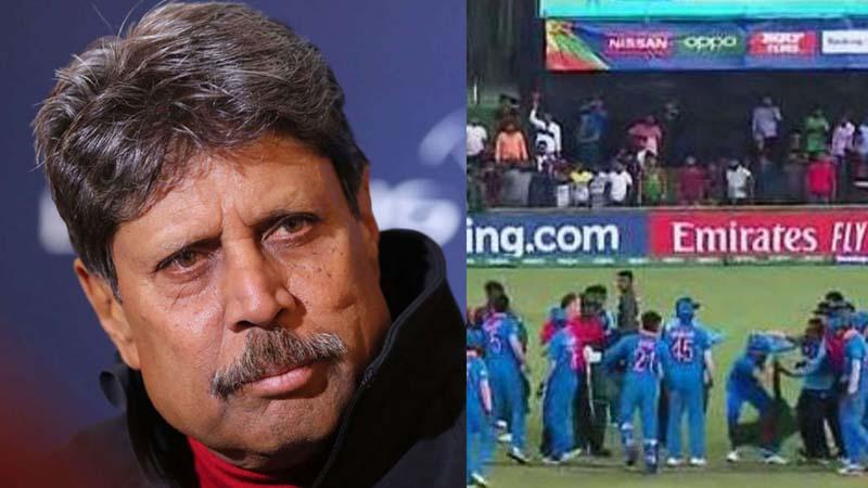 Cricket is no longer gentleman's game: Kapil Dev on U-19 WC final brawl