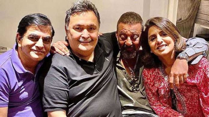 Fans are worried about Sanjay Dutt's health after his latest pic with Rishi and Neetu Kapoor