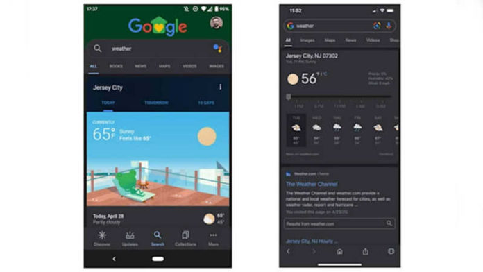 Google Search app gets Dark Mode on Android and iOS