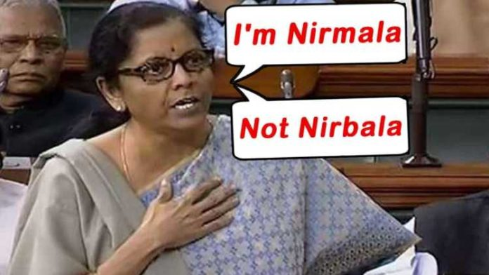 I'm Nirmala, all women in BJP sabla: Sitharaman on Cong MP's 'Nirbala' jibe