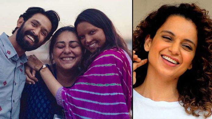 Kangana appreciates filmmaker Meghna Gulzar and actor Deepika Padukone whereas sister Rangoli criticizes