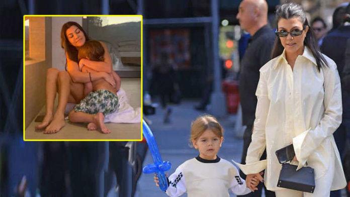 Kourtney Kardashian Starts The Decade By Cuddling With Son Reign!