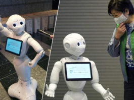 Mask-wearing robots greet COVID-19 patients in Japan hotels