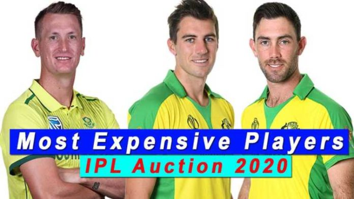 Who were the most expensive buys in the IPL 2020 auction?