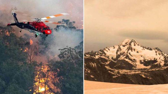 New Zealand glaciers turn brown due to Australian bushfires