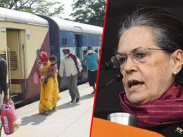 Sonia Gandhi: Congress to bear rail travel expense of every migrant labourer