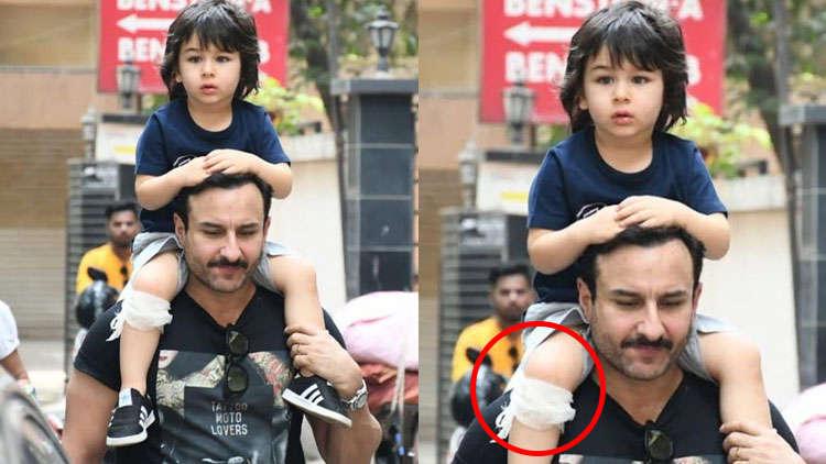 Taimur Ali Khan Injured; Piggybacks On Daddy Saif Ali Khan's Shoulder