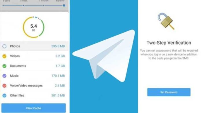 Telegram Messenger adds in-app video editor, 2-step verification