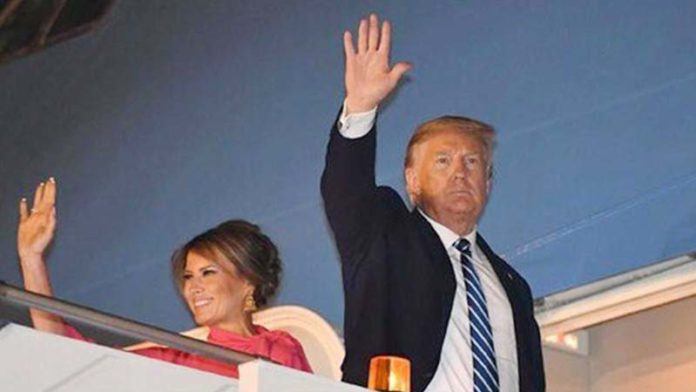 Trump, Melania depart from Delhi to US after end of their 2-day visit