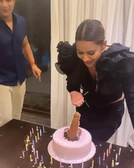 Nia Sharma Faces Backlash Over Her Birthday Cake, Netizens Call Her 'Besharam'