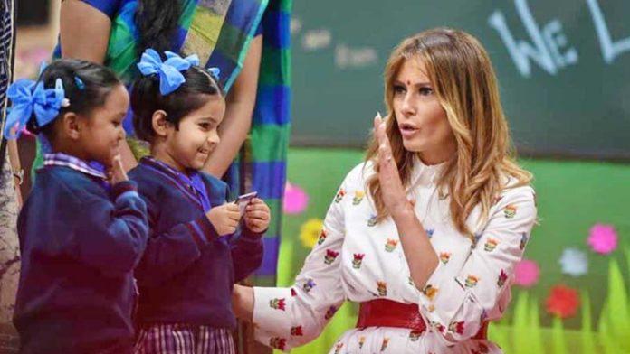 What do you do as the First Lady: Delhi schoolchildren ask Melania Trump