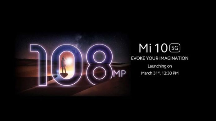 Xiaomi to launch Mi10 with 108MP camera in India on 31st March