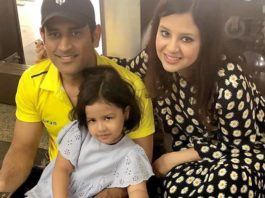 Dhoni's 5 year old daughter