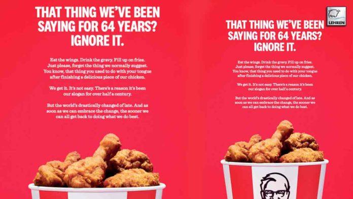 KFC Deletes Iconic Tagline