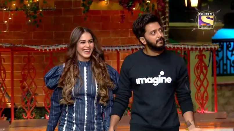 Riteish Deshmukh & Genelia D'Souza Graces The Sets Of The Kapil Sharma Show