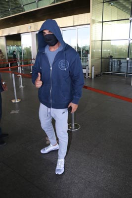Actor John Abraham spotted at Mumbai Airport