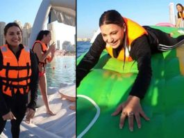Himanshi Khurana Gets Over Her Phobia Of Water In Dubai
