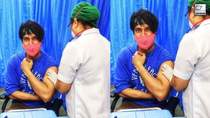 Nitin First Celeb Vaccinated India