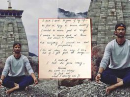 This Unseen Handwritten Note By Sushant Singh Rajput Will Give You Life Lessons