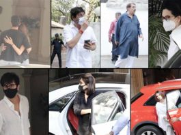 Celebs Arrive For The Funeral Of Actor Rajiv Kapoor