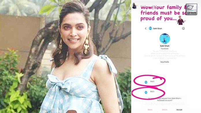 Deepika Shames Troll