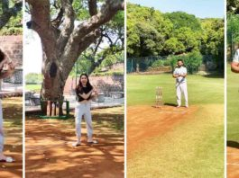 Rahul Vaidya Enjoys A Game Of Cricket With Lady Love Disha Parmar