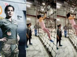 Watch Kangana Ranaut Is Training Hard For Her Film 'Tejas'