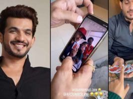 Arjun Bijlani Shows His Magic Trick To Anushka Sen And Sourabh Raaj Jain