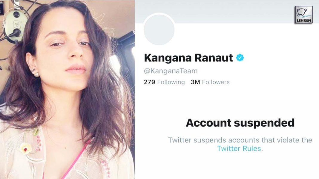 Kangana Twitter Account Suspended
